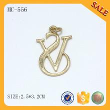 MC556 Chain Zubehör Gold benutzerdefinierte Handtasche Metall-Tags