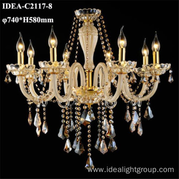 restaurant chandelier lighting crystal pendants candle lamp