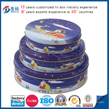 Round Tin Set for Christmas (JY-WD-2015100907)
