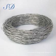 Cuerda de alambre de acero galvanizada de alta tensión y baja emisión de carbono de alta resistencia