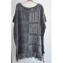 100%Acrylic Side Open Knit Cheap Women Sweater