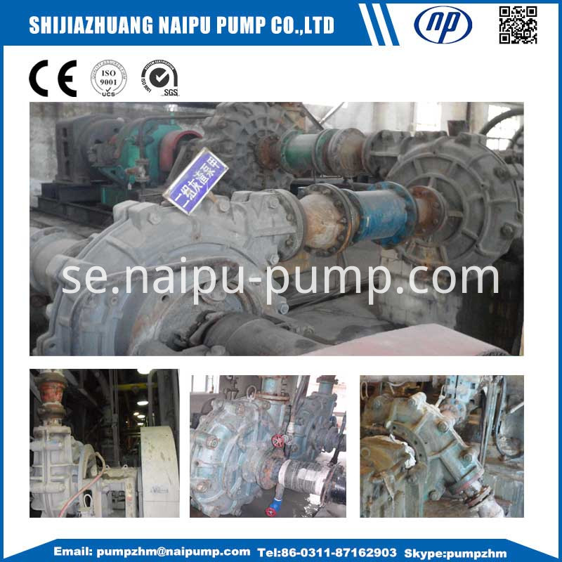 Slurry pump on site