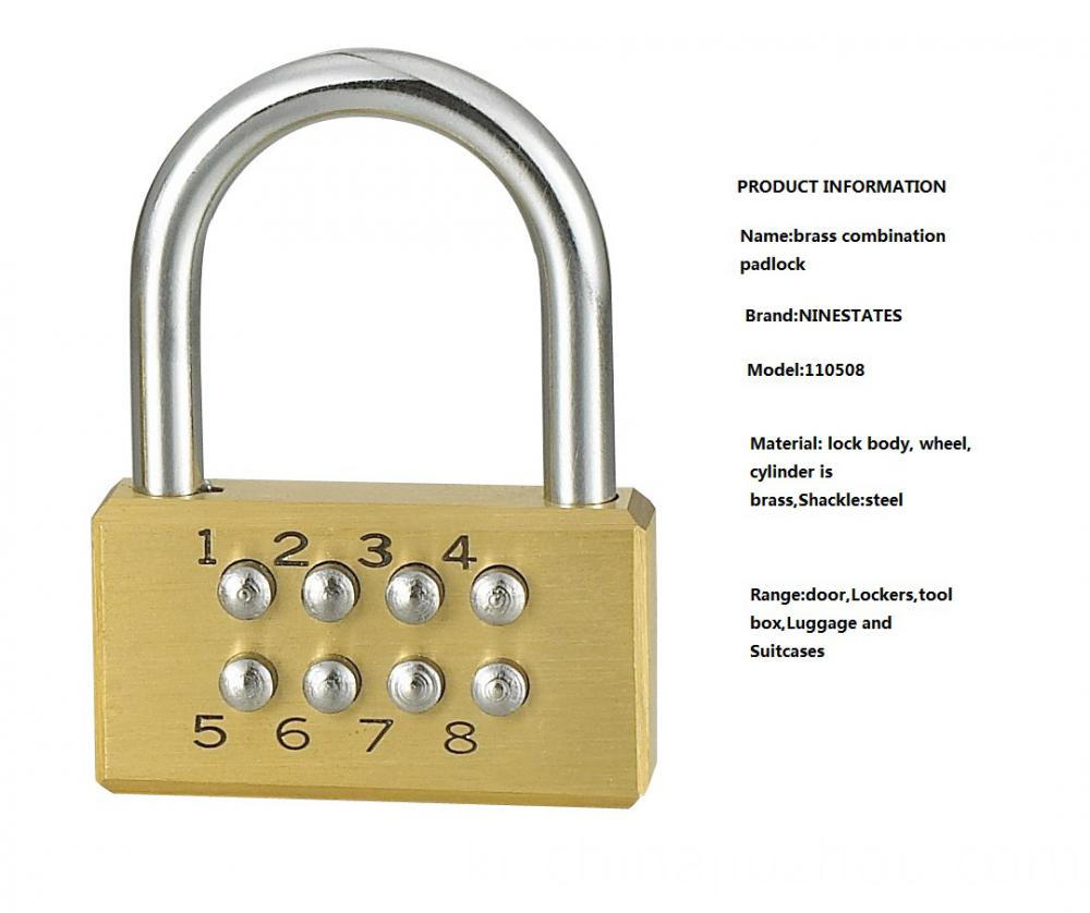 High Quality Brass Combination Lock