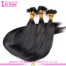 I tip 100% virgin indian remy hair extensions 100 keratin tip human hair extension