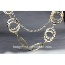 New fashion magnetic gold metal waist belt