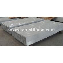 Chapa de acero trapezoidal para techos de aluminio
