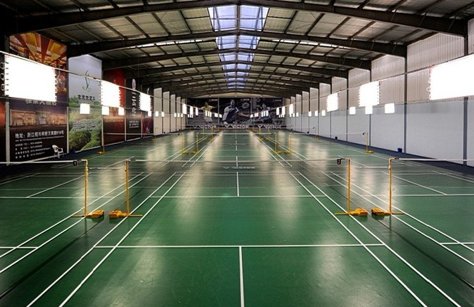 badminton court floor