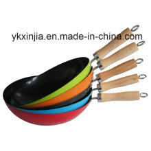 Kitchenware Colorful Carbon Steel Non-Stick Cookware Chinese Woks