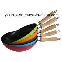 Кухонная посуда Цветная углеродистая сталь Антипригарная посуда Chinese Woks