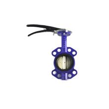 Robinet à papillon JKTL SS304 et SS316L en acier inoxydable à tirette sanitaire