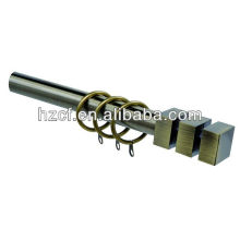 C19130 adjustable ,extendable curtain rod curtain pole with metal brackets and rings , home decoration, curtain accessories