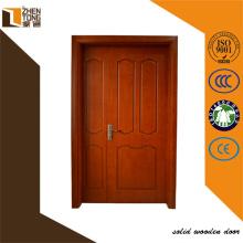 Резные твердые деревянные двери двойной дизайн