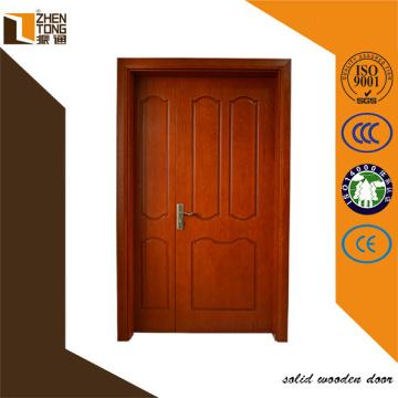 Tallada puerta doble madera maciza de diseño