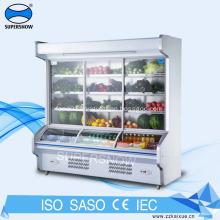 supermarket used vegetable display cooler