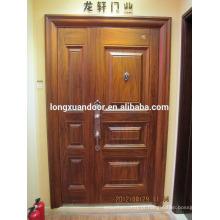 Porta de aço de fábrica, design de porta principal de ferro