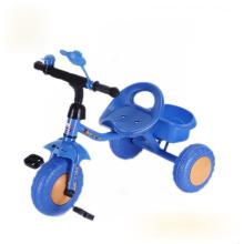 El color azul embroma el triciclo, triciclo de los niños, triciclo del bebé