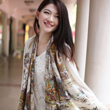 Digital Printed Silk Scarf (12-BR110303-6)