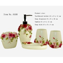 Resin 5PCS Bath Set for Home/Hotel Decoration