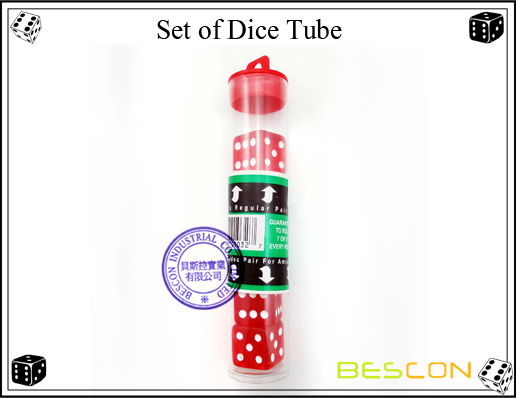 Set of Dice Tube