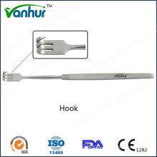 Instrumentos quirúrgicos Gancho broncoscópico