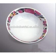 Tazón de arroz de cerámica / inclinado / palomitas con calcomanía