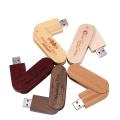 Clé USB pivotante en bois 2.0 3.0