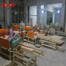 Wood Pallet Feet Block Extruder Machine