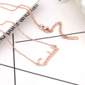 Rose Gold Good Luck Charm Necklace For Women