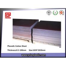 Plaque de Textolite de stratifié de tissu phénolique de Brown 3025 de coton