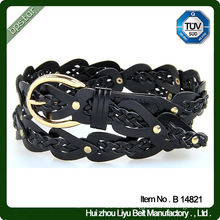 Leather Belts for women knitted braided Belt For Cool Girls fashion pu 2015