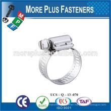Made in Taiwan Stainless Steel types of hose clamps small hose clamps heavy torque hose clamps