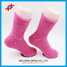 microfiber terry soft elastic pink and blue custom socks bulk