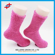Микрофибра махровые мягкие эластичные розовые и синие на заказ носки оптом