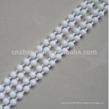 Persianas enrollables cadena de bola de plástico, 4.5 * 6mm blanco POM bola cadena puede hacer sin fin, (bucle) como su quiere