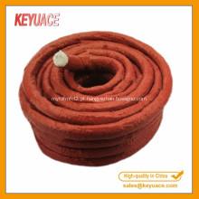 Cor vermelha para corda de fibra de vidro de borracha de silicone