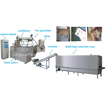Production et équipement de protéines végétales filamenteuses