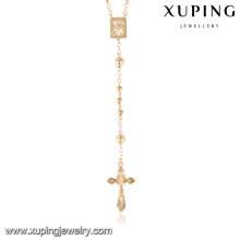 43267 Xuping rosário jóias 18 k colar de corrente de ouro, mais recente projeto saudi colar de jóias de ouro