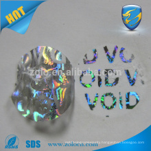 factory cheap custom tamper proof hologram stickers with void left