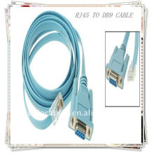 BRAND NEW PREMIUM Blue Flat RJ45 to DB9 Female cable