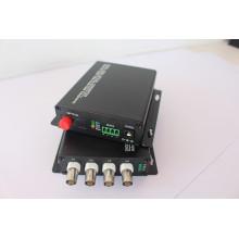 4CH Video + 1CH RS485 PTZ Daten Optischer Video Converter