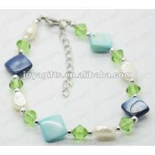 Fashion 2012 Joya Green Glass Beaded Anklet