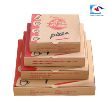 hot sale Kraft paper pizza packaging box with different sizes
