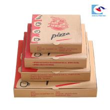 Venda quente caixa de embalagem de pizza de papel Kraft com tamanhos diferentes