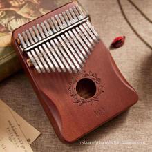 amazon hot product pink cat lovely design mahogany  17 keys kamliba finger piano music instrument