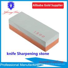 usine vendent aiguiseur de couteau de pierre à aiguiser avec support anti-dérapant de base de bambou