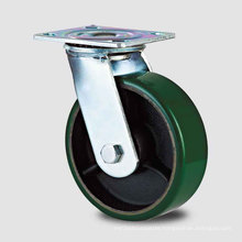Double Ball Green PU on Iron-Core Double Ball Caster (KHX2-H6)