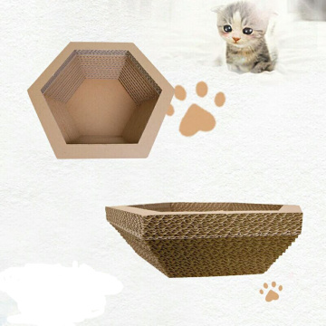 Cama Hexagonal Paper Cat Scratcher Lounge