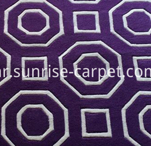 hand tufted carpet with purple 3