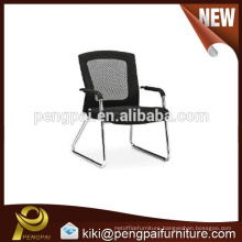 Black office chair design with steel leg