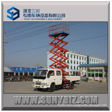 8m 10m Dongfeng DFAC Hydraulic Lifting Aerial Cage Truck